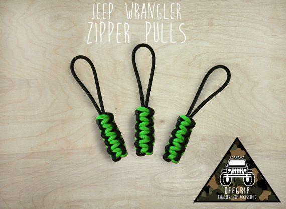 Paracord Jeep Wrangler Zipper Pulls Jeep Wrangler Jeep Wrangler Soft Top Jeep