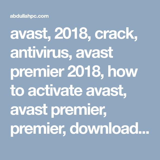 avast 18.5 activation code