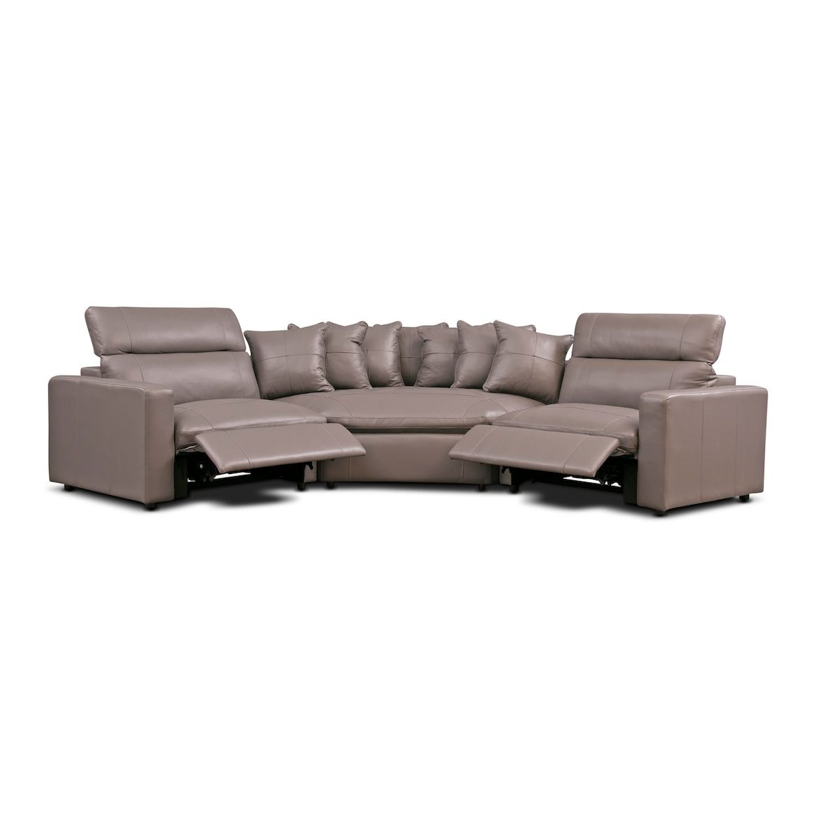 Best Happy 3 Piece Dual Power Reclining Sectional With Cuddler 640 x 480