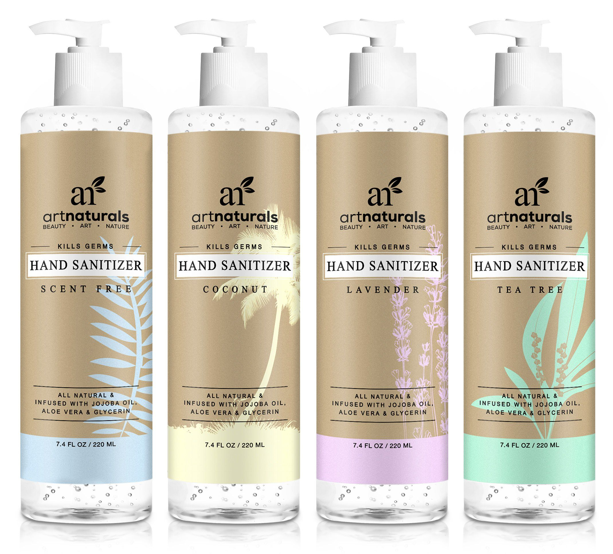 Artnaturals Natural Hand Sanitiser Gel A 4 X 7 4 Fl Oz 220ml A