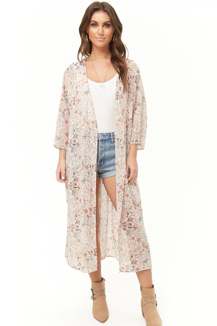 592bf7409fed Product Name Wildflower Print Longline Kimono