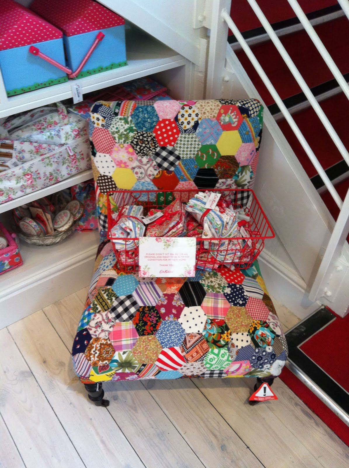 for my quilt room. cath kidston patchwork chair