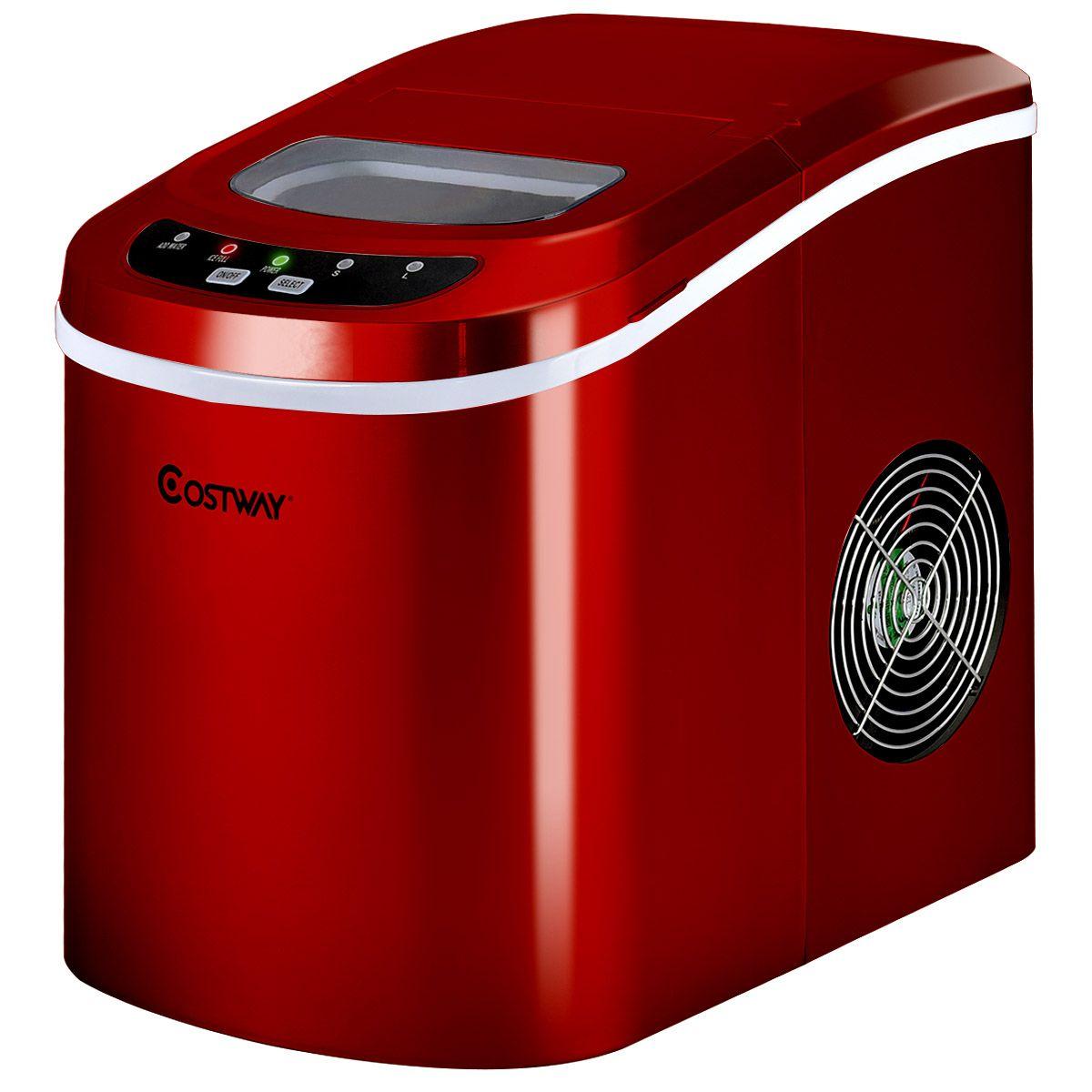Mini Portable Compact Electric Ice Maker Machine Red In 2020 Ice Maker Machine Portable Ice Maker Ice Maker