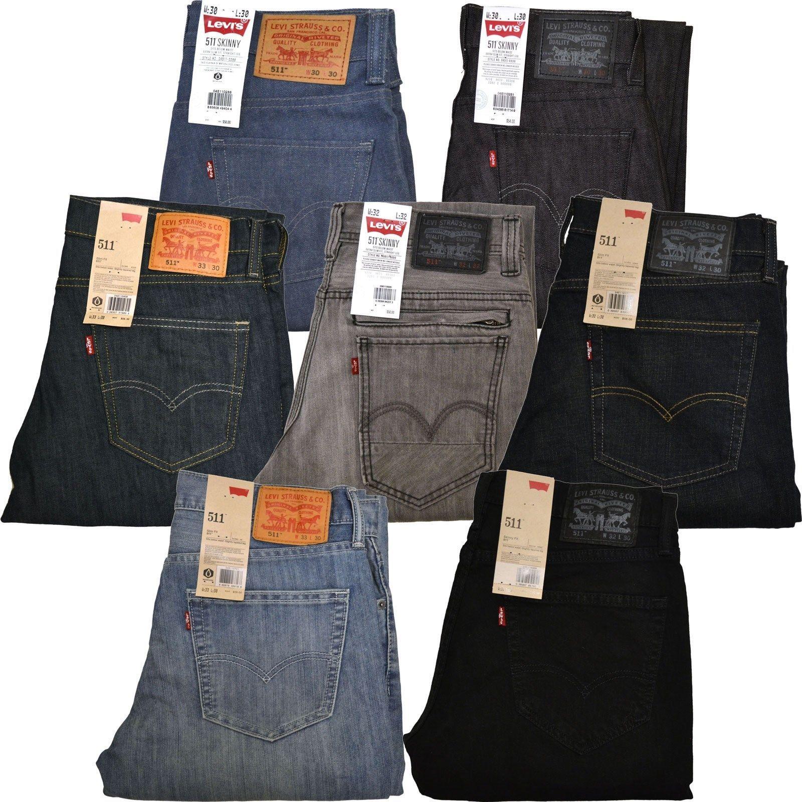 Levis 511 Skinny Jeans Slim Fit Mens Jean Dark Light Medium 29 30 31 32 33 34 36 Pantalones Levis Hombre Moda Ropa Hombre Ropa De Hombre