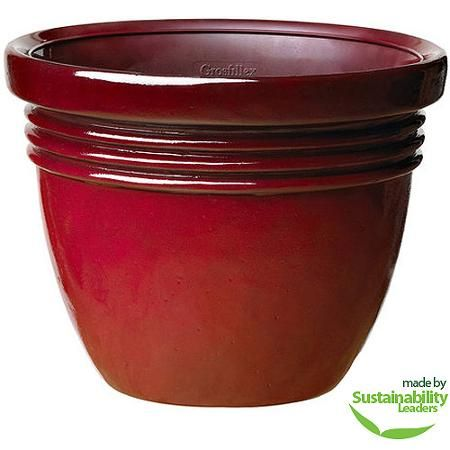 Better Homes And Gardens Bombay Decorative Outdoor Planter Red Sedona 12 Walmart Com Decorative Outdoor Planters Outdoor Planters Better Homes And Gardens