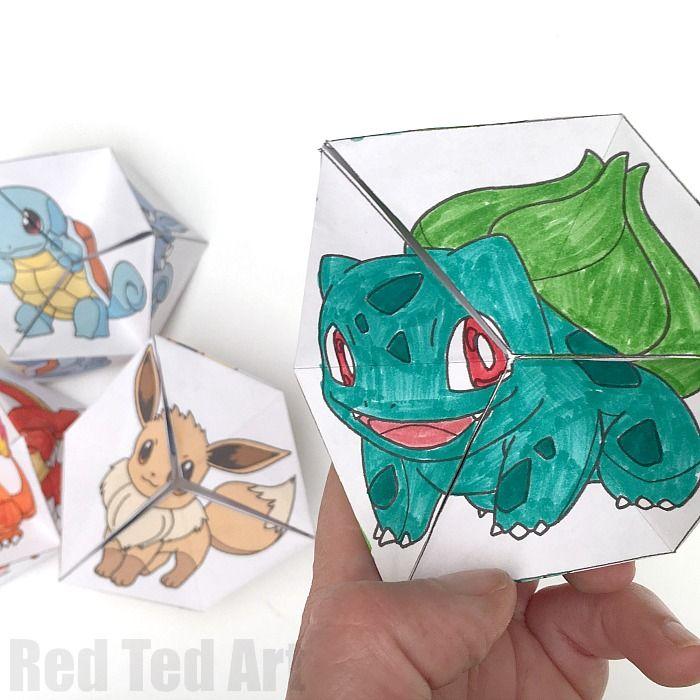 Pokemon Evolution DIY Kaleidoscope Paper Toy   Kreatives   Pinterest ...