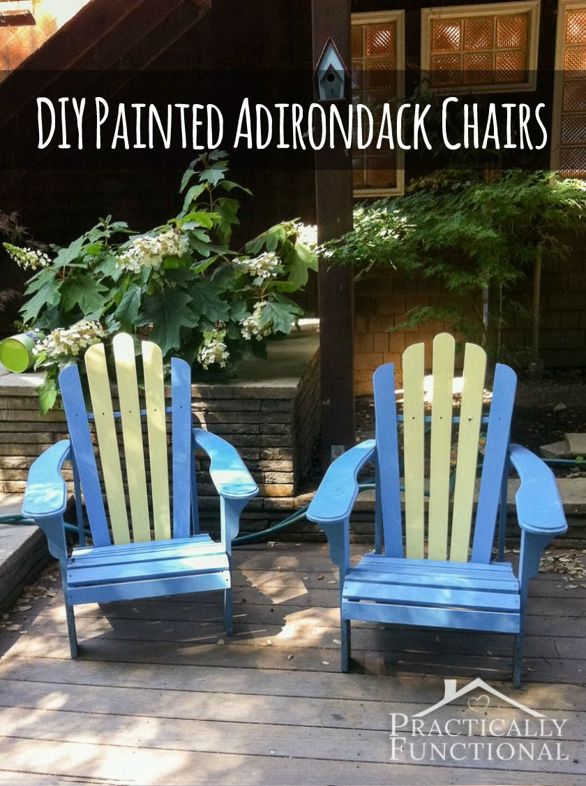 Diy painted adirondack chairs porch patios and easy