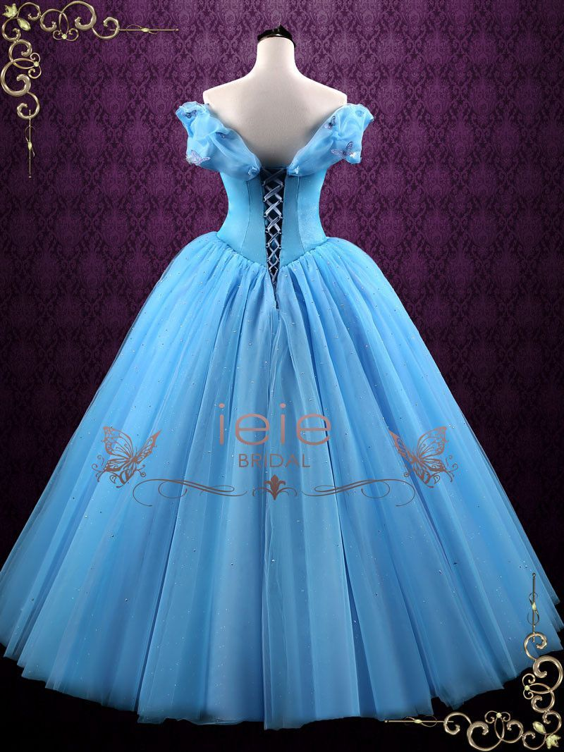 Cinderella blue ball gown evening dress cinderella in
