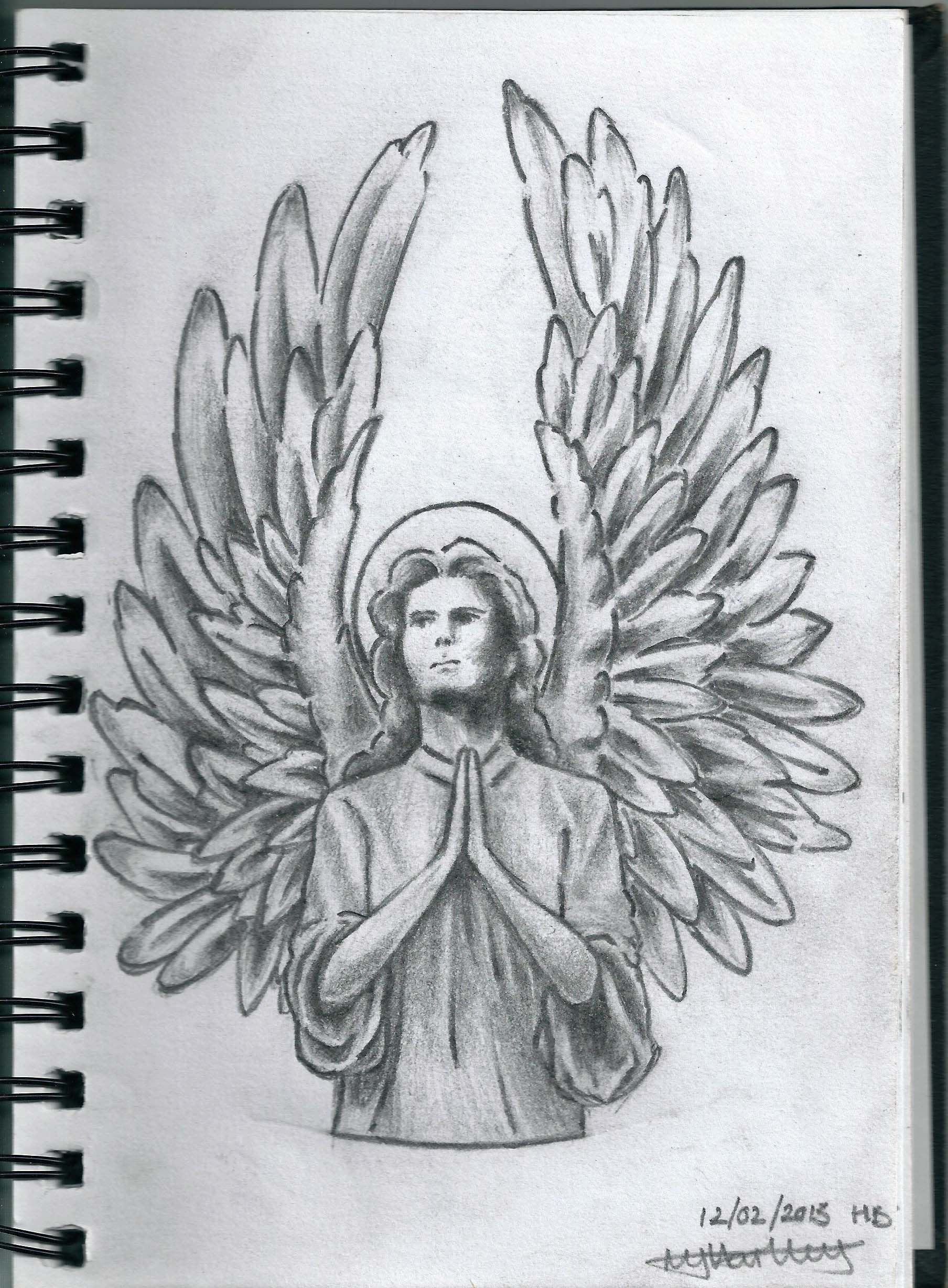 Guardian Angel Tattoo Sketches Guardian angel sleeve ...