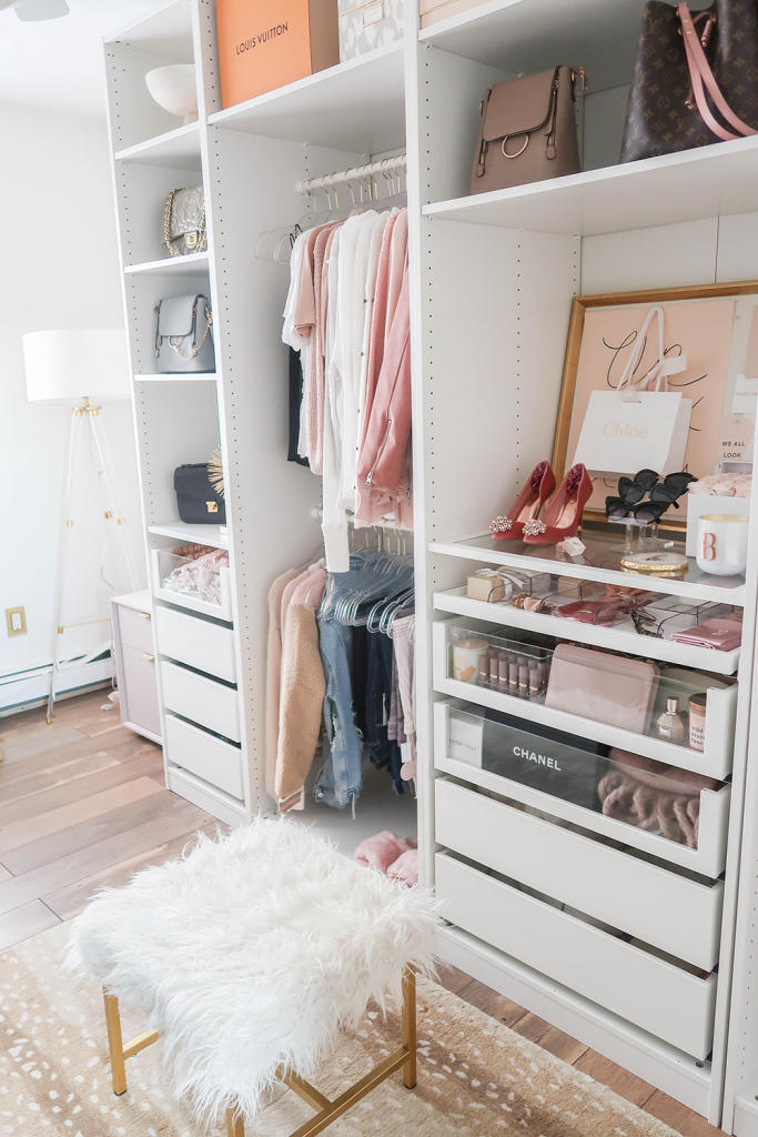 Diy An Organized Closet Big Or Small With The Ikea Pax Wardrobe System The Happy Housie Small Apartment Closet Closet Decor Ikea Pax Wardrobe