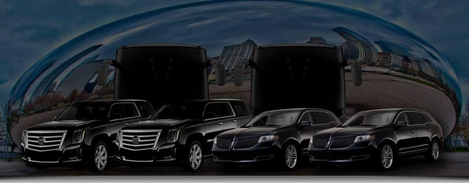 Black car service luxury suv van limo bus charters