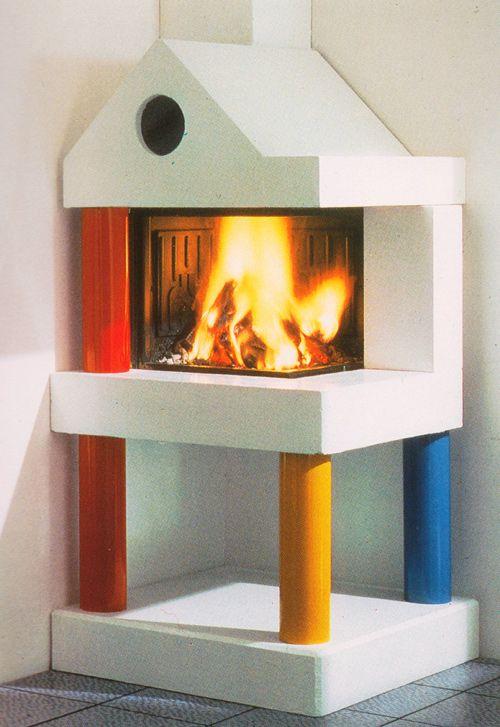 Davide Mercatali, Qovadis Fireplace, for Edilkamin, 1985