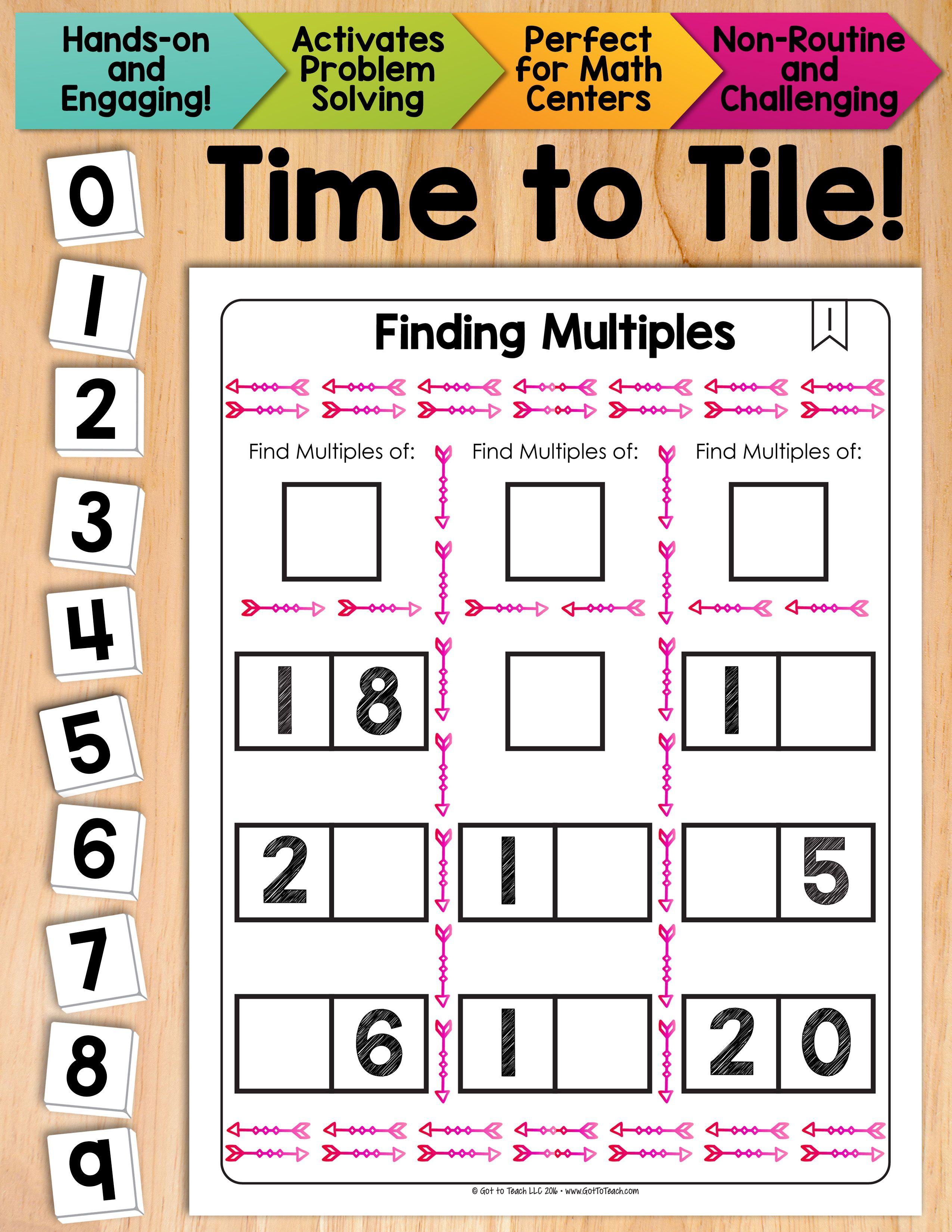 Math Tiles Finding Multiples