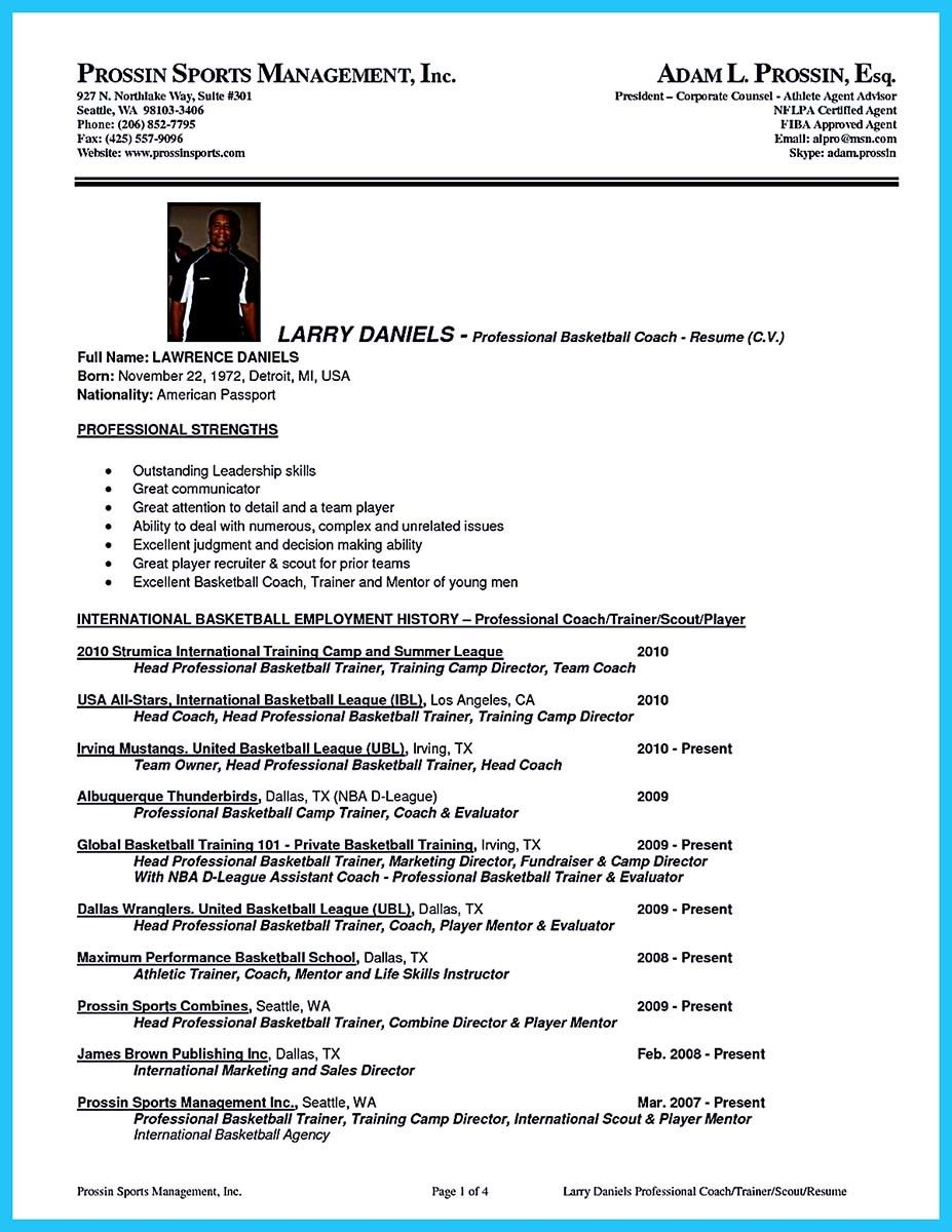 Elegant Awesome Captivating Thing For Perfect And Acceptable Basketball Coach Resume,  Check More At Http: Regarding Basketball Coach Resume