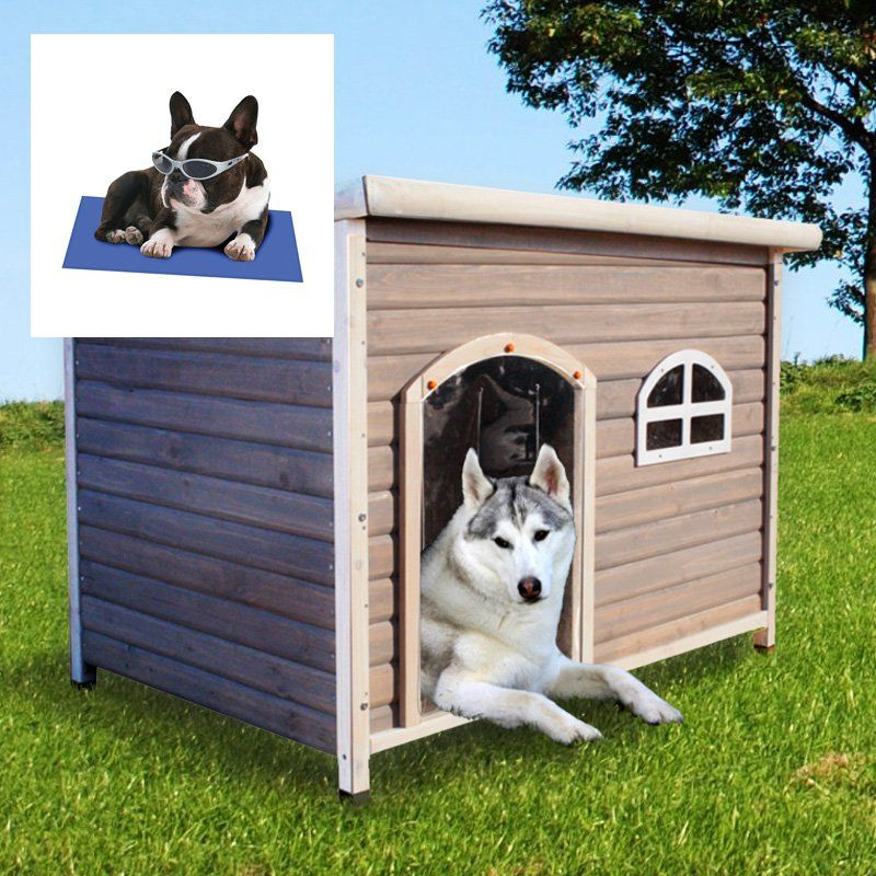 Have to have it. Spotty XL Insulated Flat Roof Dog House
