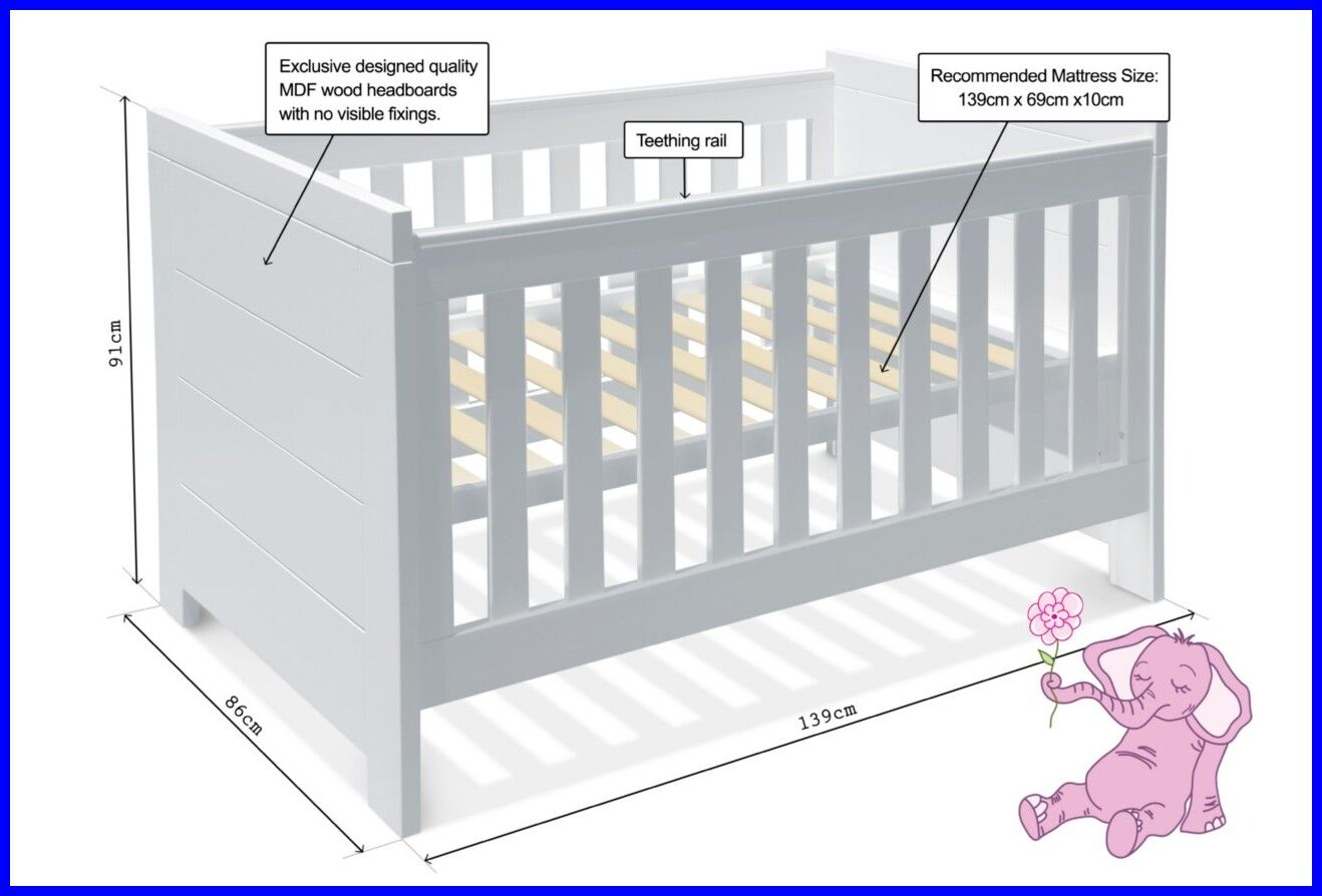 51 Reference Of Crib Mattress Toddler Size In 2020 Mattress Size Chart Mattress Sizes Mattress Measurements
