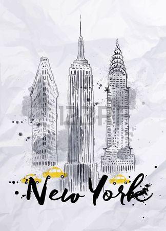 Stock Photo Illustration De New York Tirages Gratuits Peinture