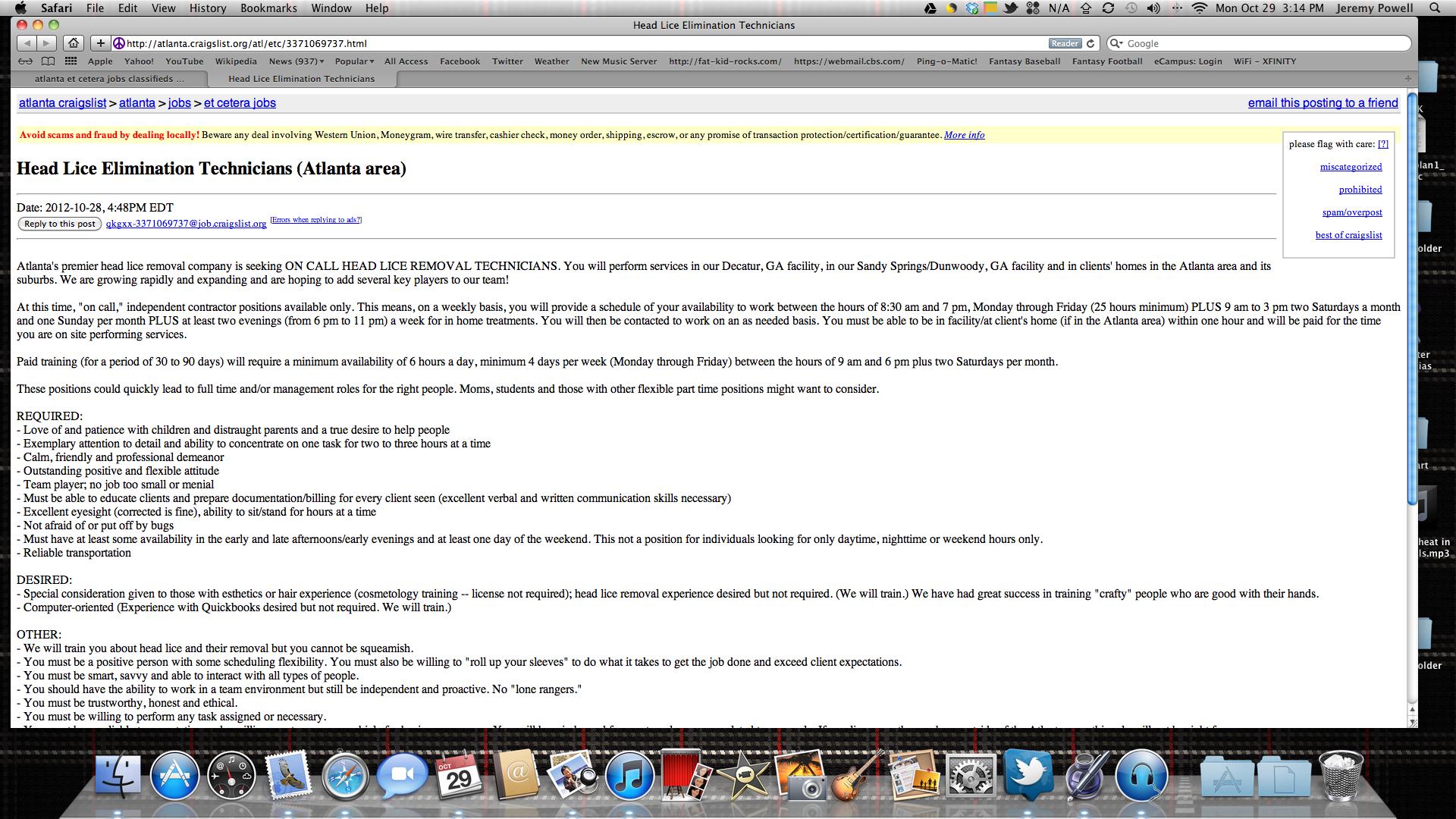 Found This Job On Craigslist Head Louse Funny Technician