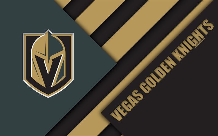 Download Wallpapers Vegas Golden Knights Nhl 4k Material Design Logo Gray Abstraction Lines American Hockey Club Las Vegas Nevada Usa National Hockey Vegas Golden Knights Golden Knights Vegas Golden Knights Logo