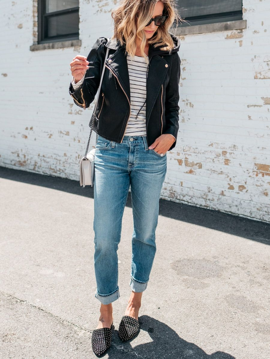 3 Ways To Style A Moto Jacket - my kind of sweet