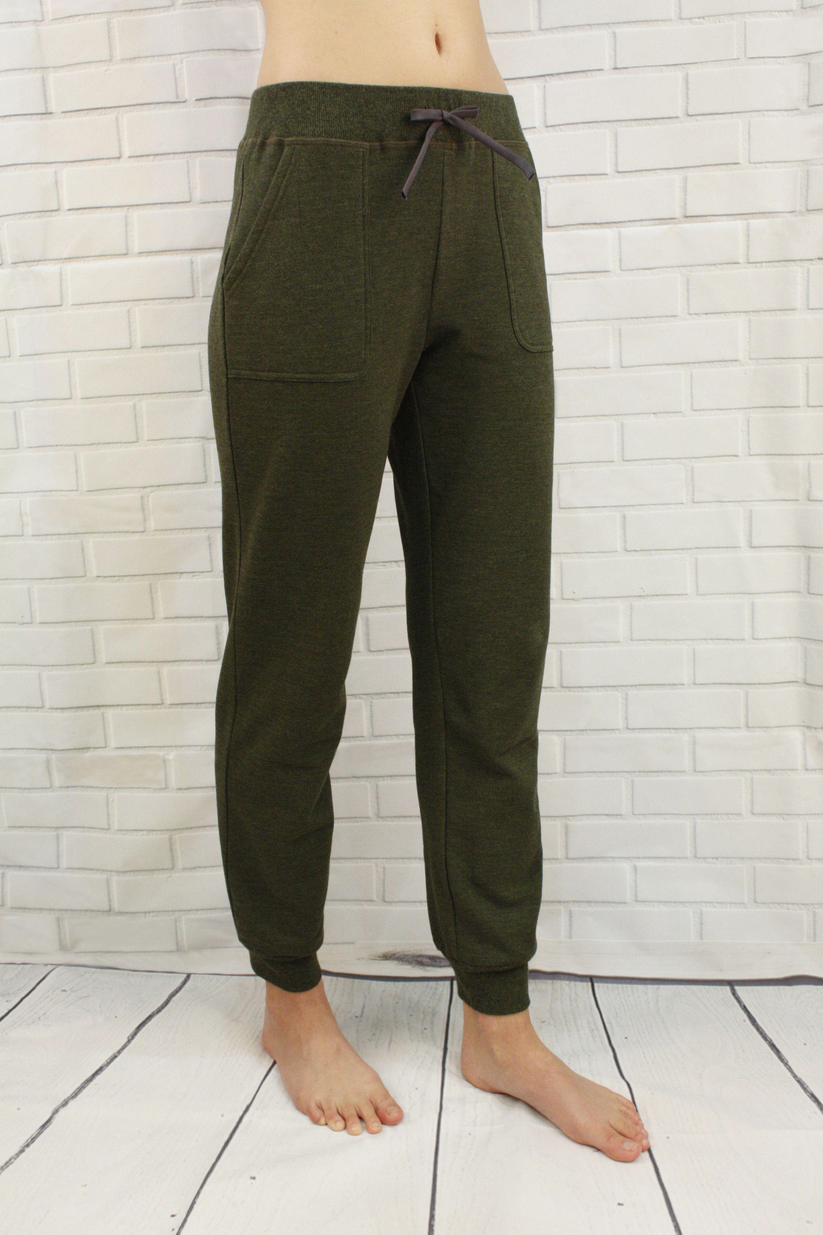 dcb4ca5d996a Aidan Bamboo Fleece Pants in Green - Warm fuzzy