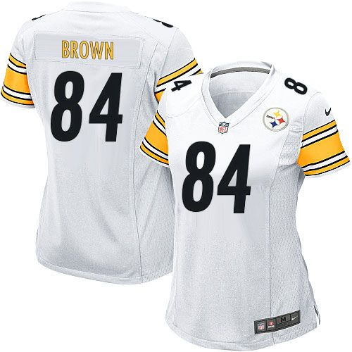 nike limited womens pittsburgh steelers 84 antonio brown white nfl jersey 79.99