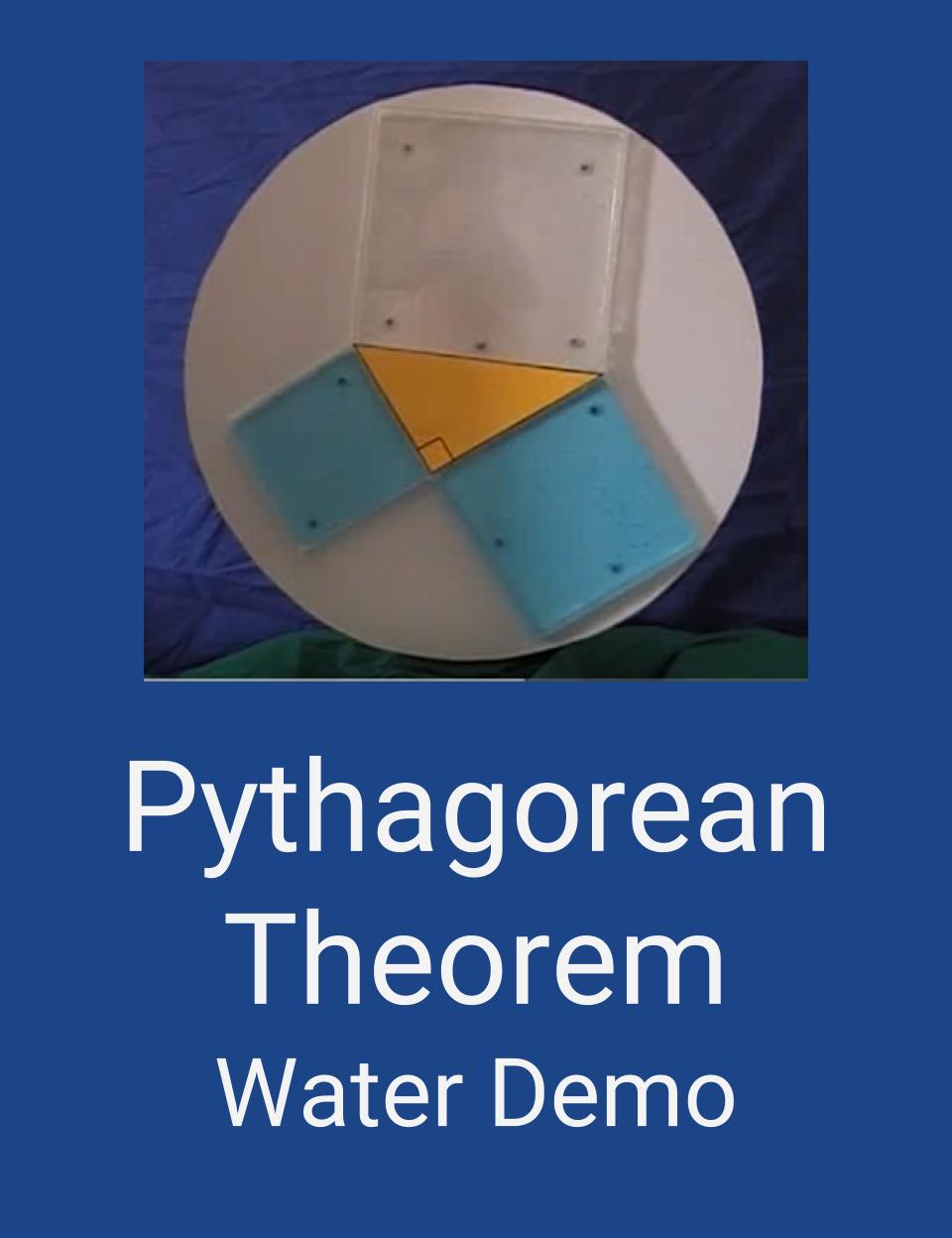 Pythagorean Theorem Water Demo Video Cultofpedagogypin Pythagorean Theorem Algebra Activities Pythagorean Theorem Activity
