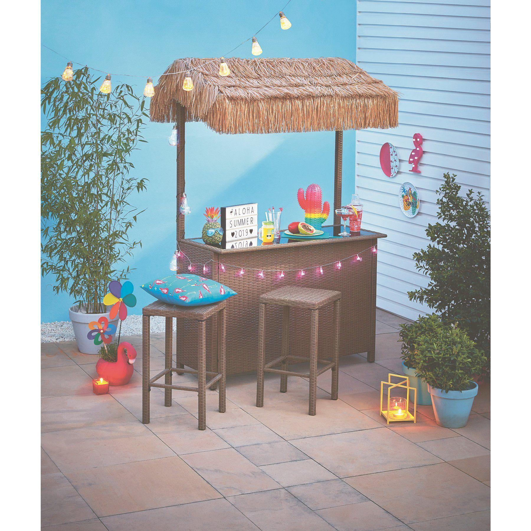 Garden Tiki Bar 3 Piece Set Outdoor