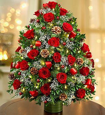 Holiday Flower Tree Luxury 1800flowers Com 107933 Christmas Flower Arrangements Christmas Floral Arrangements Christmas Flowers