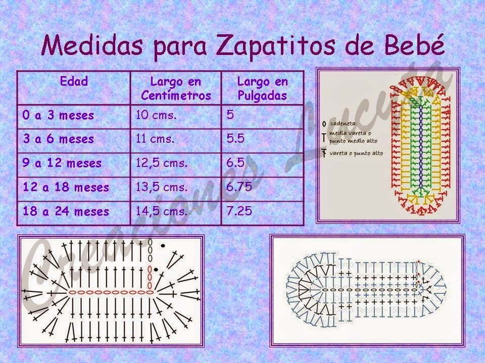 Tejidos realizados con amor para ti tabla de medidas - Zapateria para ti ...