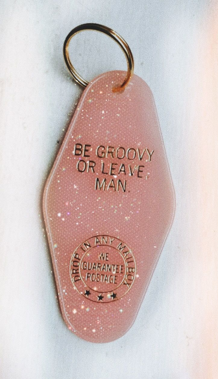Be Groovy Key Tag