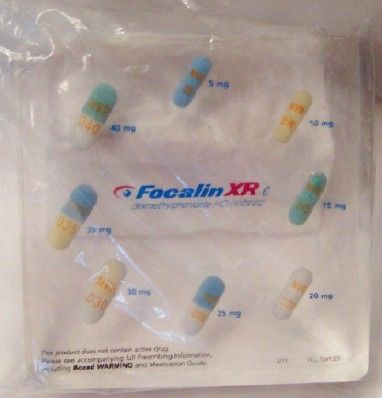 Focalin XR Drug Rep Logo Collectible Lucite Paperweight New