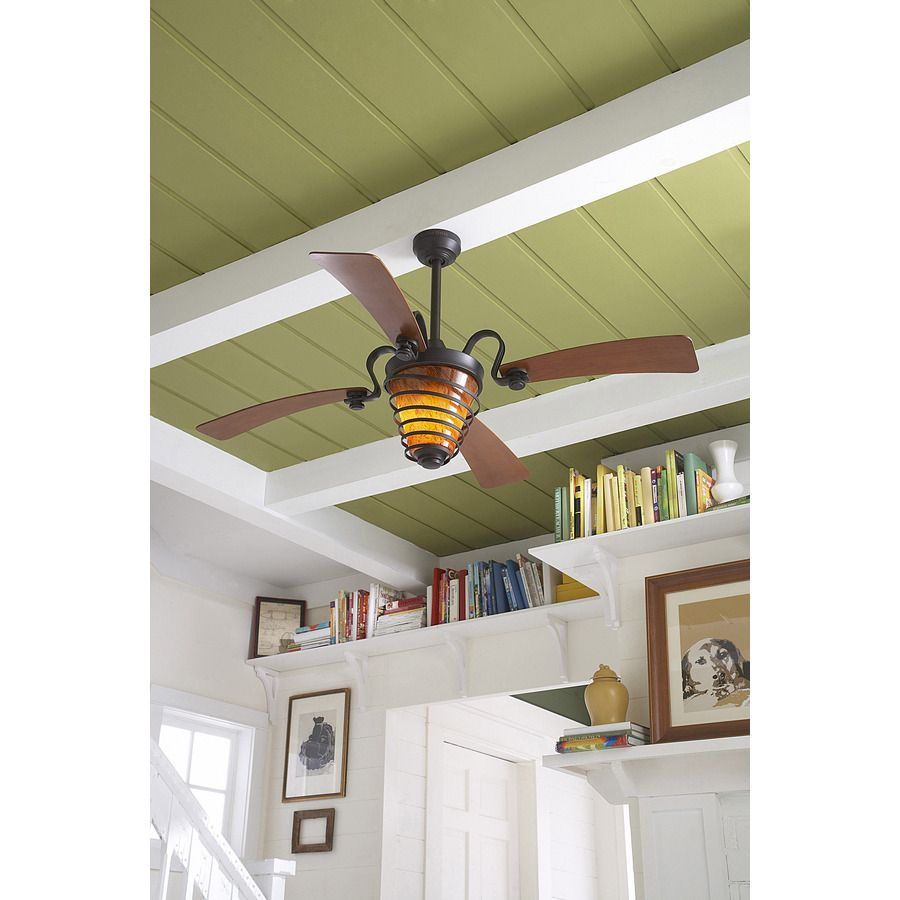 Shop Harbor Breeze Quimby 52 In Aged Bronze Downrod Mount Indoor Ceiling Fan With Light