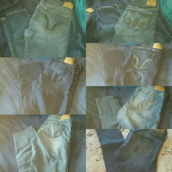 Lots of Hollister Jeans Lots of Hollister Jeans, some new, some lightly used. Super Skinny and Skinny. Sizes 5 and 7. All reasonable offers are considered! Hollister Jeans Skinny