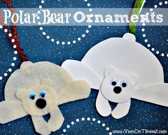 Polar Bear Ornaments with Mom On Timeout