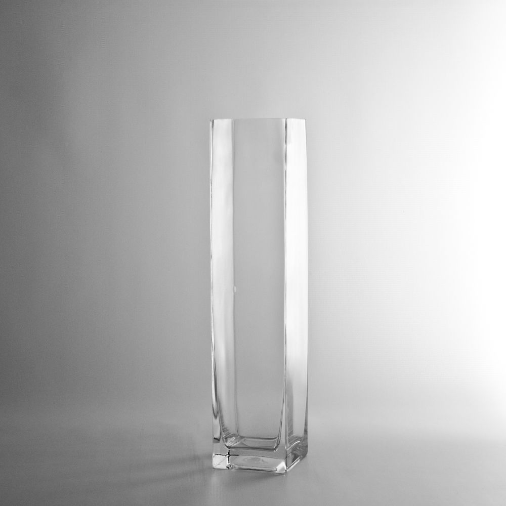 14 Tall Square Glass Vase Discount Wholesale Vases And