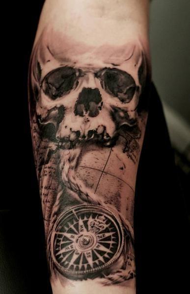 Resultado de imagem para tatuagem bussola caveira tatto for Tatoo bussola