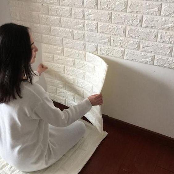 3d Self Adhesive Wall Stickers Patterned Wallpaper Bedroom Tv Decor Brick Pattern Wallpaper