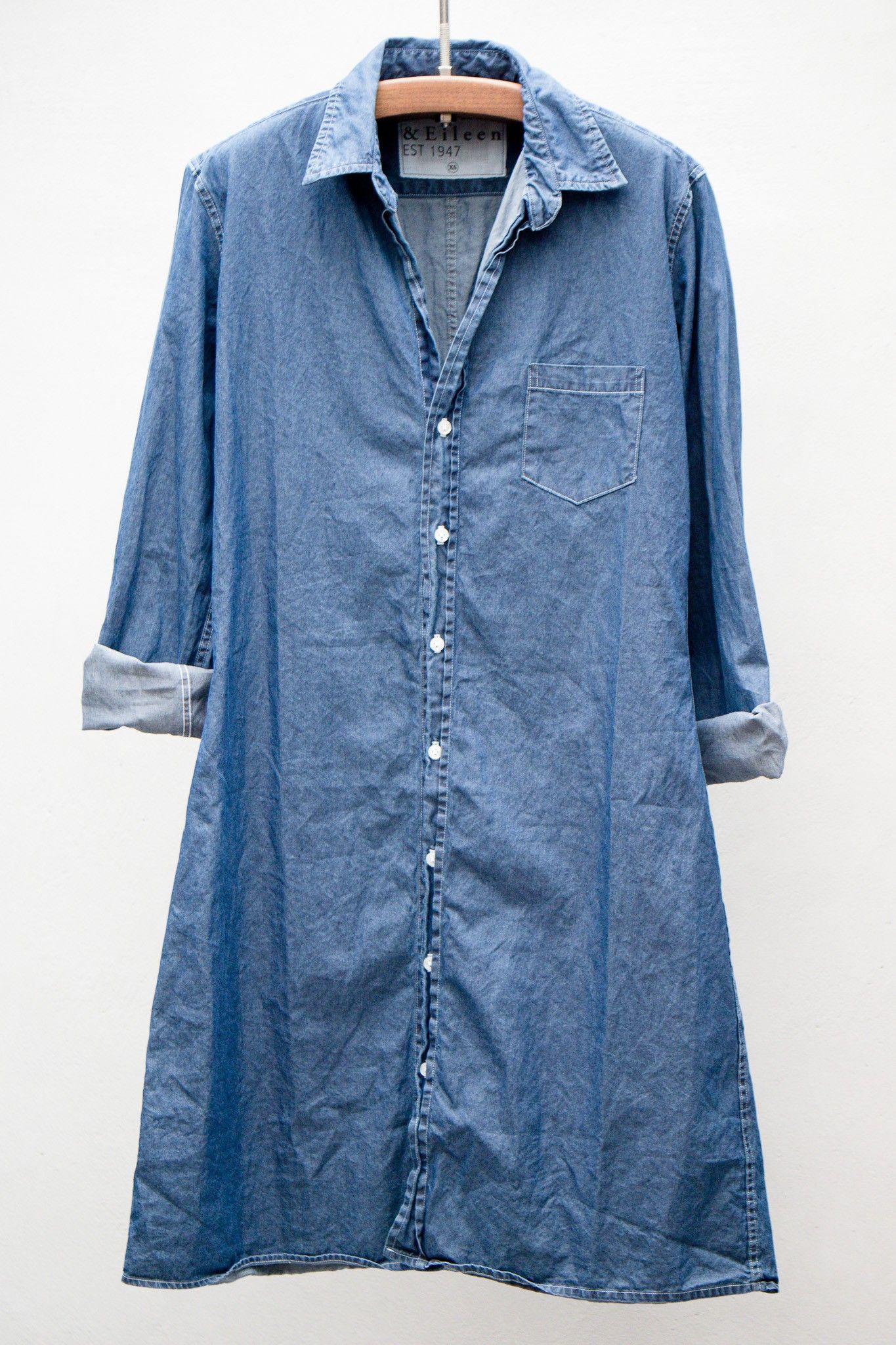 heist - frank & eileen murphy shirt dress - stonewashed indigo cotton
