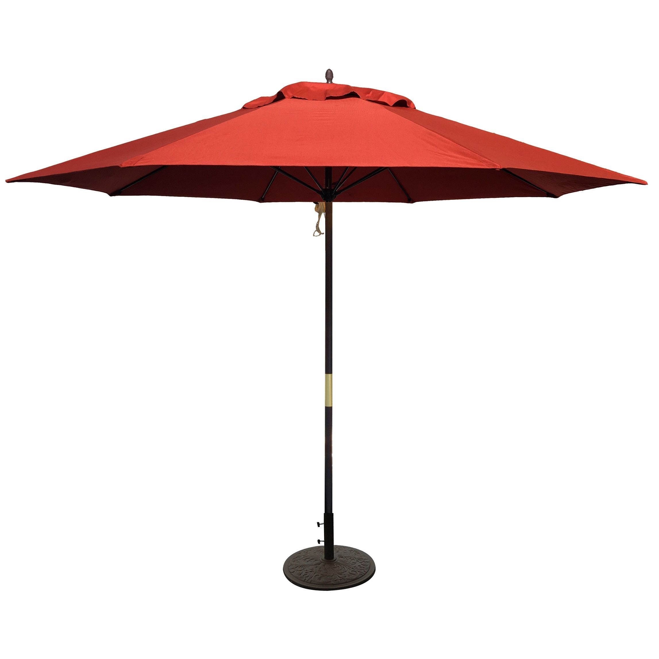 Tropishade 11 Ft Dark Wood Market Umbrella With Brick Red Olefin Cover 11 Dark Wood Market Umbrella Patio Umbrella Offset Patio Umbrella Outdoor Umbrella Rectangular Patio Umbrella