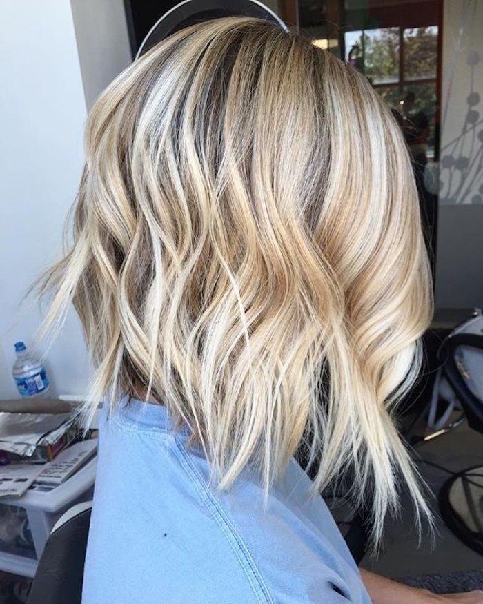 Épinglé par Madame.tn sur Shopping en 2019   Carré plongeant blond, Carré long blond et Carré ...