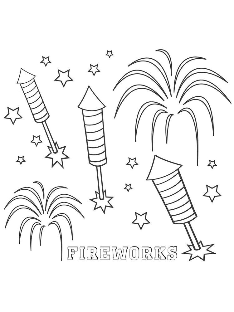 Fireworks Safety Coloring Pages Fireworks Have Long Been Used To Add Excitement To Certain Events Such As H Cool Coloring Pages Coloring Pages Firework Safety