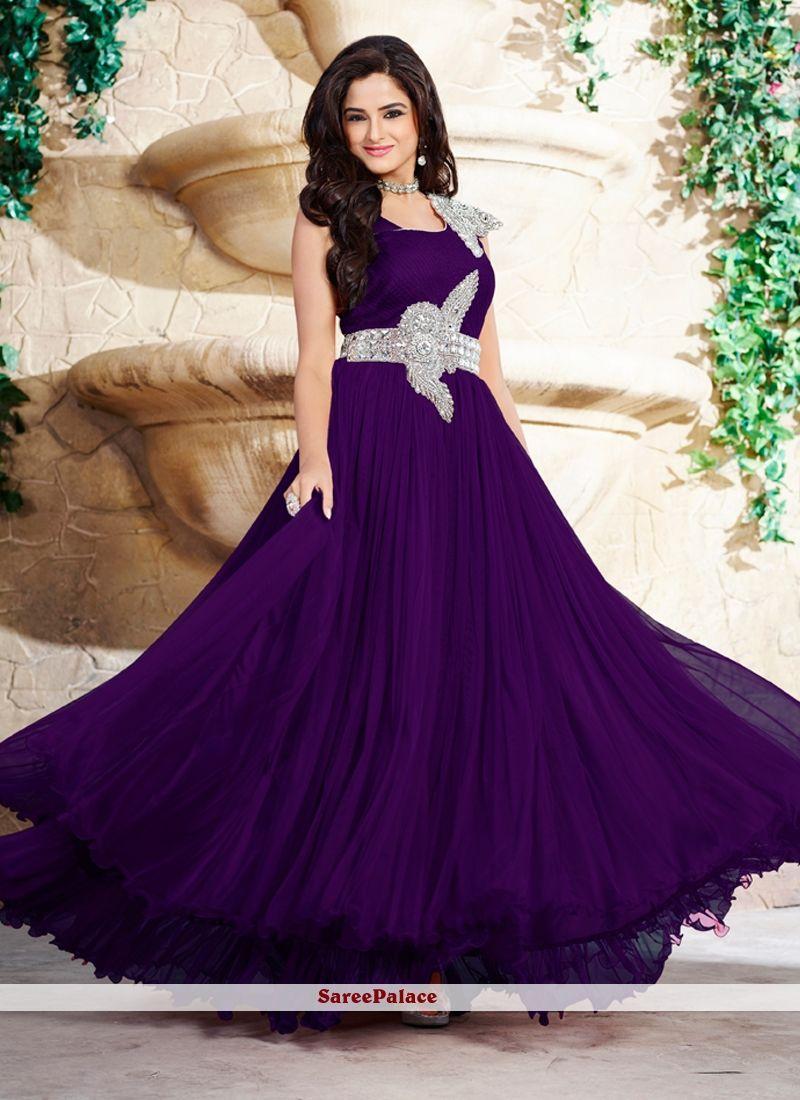 Marvelous Net Stone Work Designer Gown Gown Dress Design Designer Evening Gowns Gowns