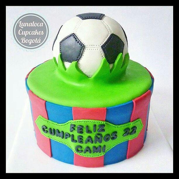 Torta de cumpleaños Fútbol Barcelona Barça (Soccer birthday cake)
