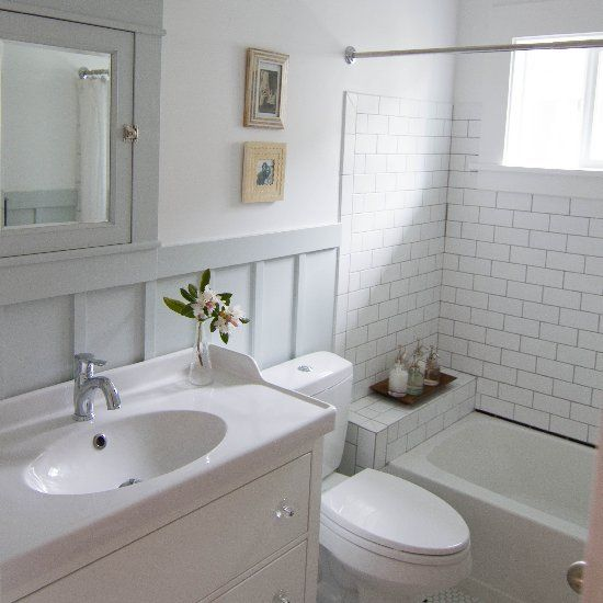 Turning a tiny ugly 70 39 s bathroom into a vintage inspired for Bathroom decor 1920 s