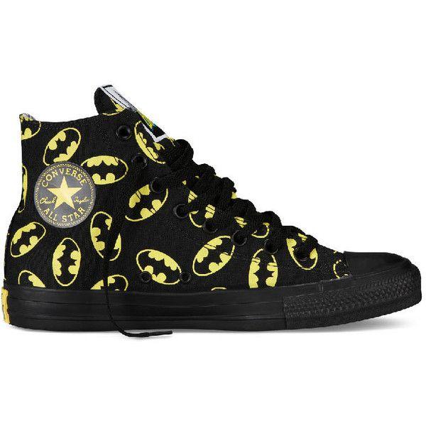 6cd83615a84e Converse Chuck Taylor All Star Hi Top Dc Comics Batman Logo Black ...