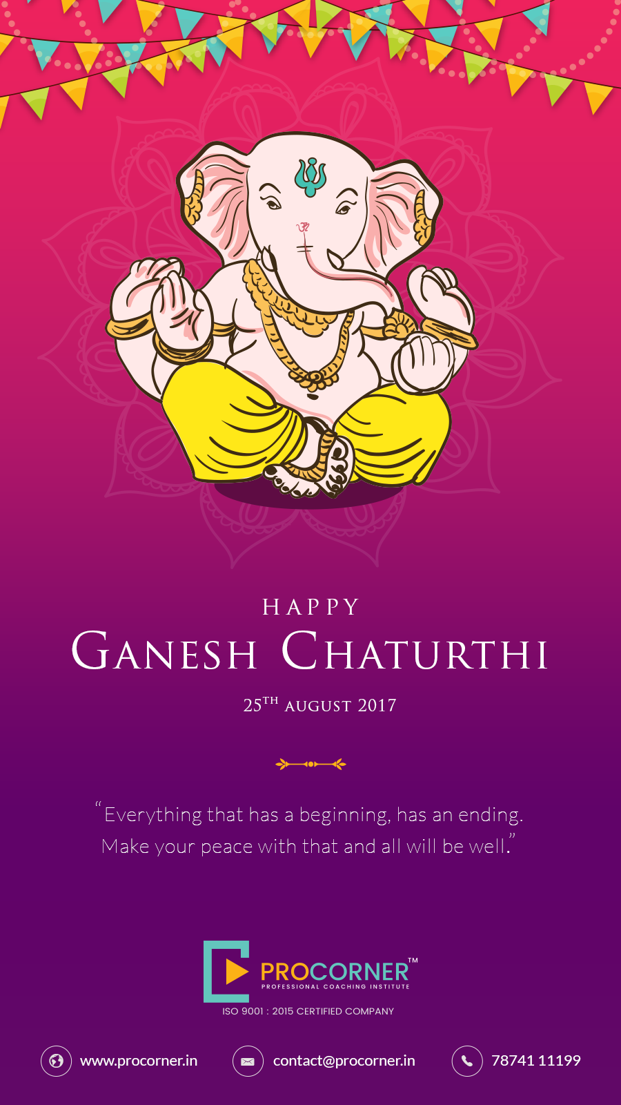 Ganesha Ganeshchaturthi Social Post Ganpati Invitation Card Business Poster Creative Posters