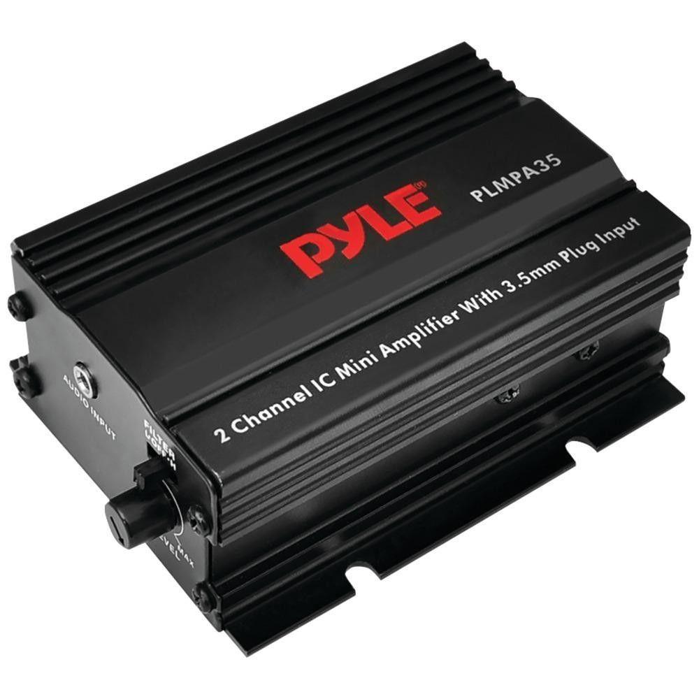PYLE PLMPA35 300-Watt 2-Channel Mini Class AB Amp with 3.5mm Input