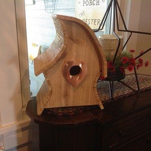 The Breezy a window mounting wren house with a open back Cedar Bird House Wooden Wren House Natural Finish Outdoor Birdhouse