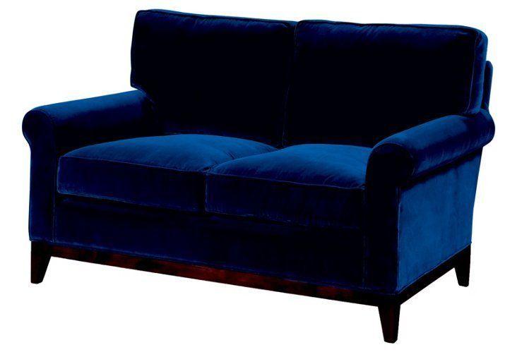 Beverly Sofa - Navy Velvet